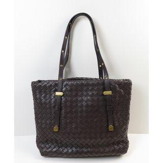 Bottega Veneta Intrecciato Dark Brown Tote Bag 162937