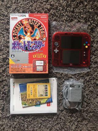 Nintendo 2DS Pokemon Red Limited Edition