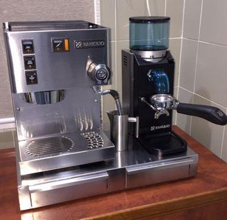 Rancilio Silvia Espresso machine and Rocky grinder and Stand Combo Brand New Boiler  Fitted 😊