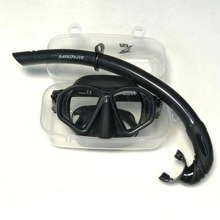 自由潛水面鏡+呼吸管