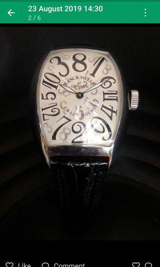 Franck muller crazy hour for lady ( jumping hour )