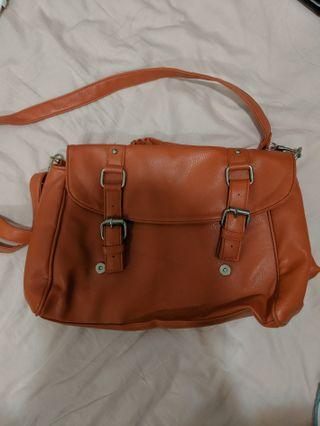 Bonita Orange Satchel Bag
