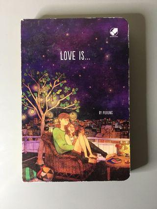 LOVE IS NOTEBOOK BY PUUUNG