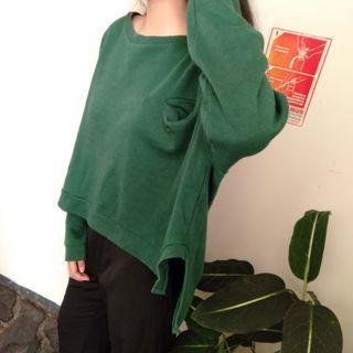 Korean GREEN Oversized Sweater