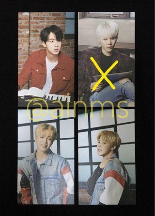 BTS Mediheal Official Postcards