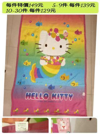 冷氣房用毯  Hello Kitty 凱蒂貓 正版 刷毛毯子