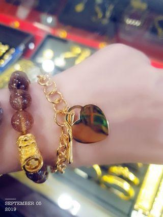 Gold 916 Tiffany Bracelet