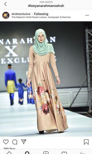 with diamonds jubah dress leeyanarahman