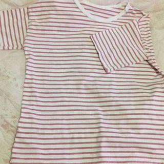 🈹大降價🈹白底粉紅條紋上衣