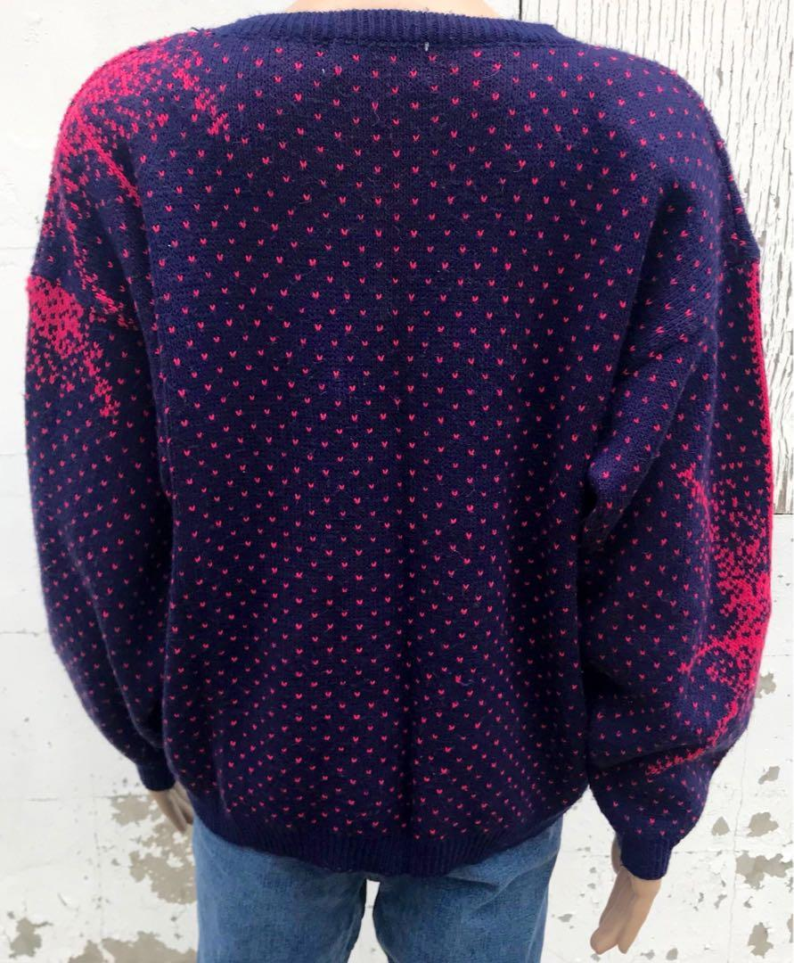 1980s Women's Sweater Vintage Pullover Knit Size M