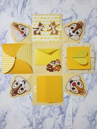 🐿奇奇蒂蒂-爆炸禮物卡片盒🎁