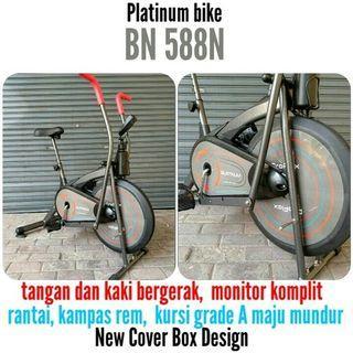 Sepeda Listrik Alat Fitness New Platinum Bike BN 588 N