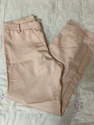 H&M Peach Straight Pants