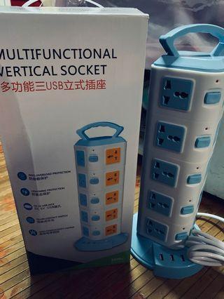 Multifunctional Vertical Socket