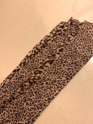豹紋圍巾 絲巾