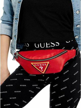 New GUESS ? 🔺 triangle LOGO GYM WAIST PACK bum fanny bag shoulder back body bag crossbody sling bag front pocket RED gucci kaws