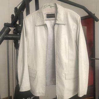 White jacket ( genuine leather )