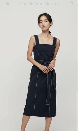 Our Second Nature OSN Contrast Seam Fitted Dress