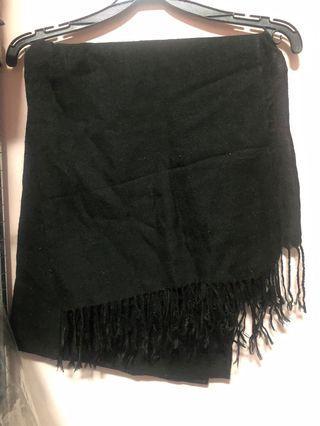 黑色薄圍巾