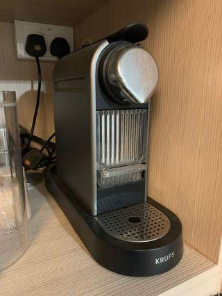 Nespresso Krups Coffee Machine + Aeroccino Milk Frother