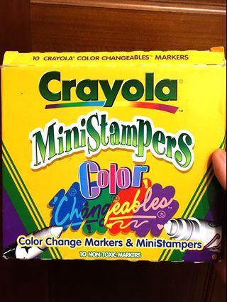 🇺🇸Crayola 變色彩色筆+印章
