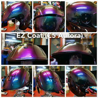 EZ Coat Aurora: Fascinating Aurora color on Motorbike Rim, helmet and Other Part