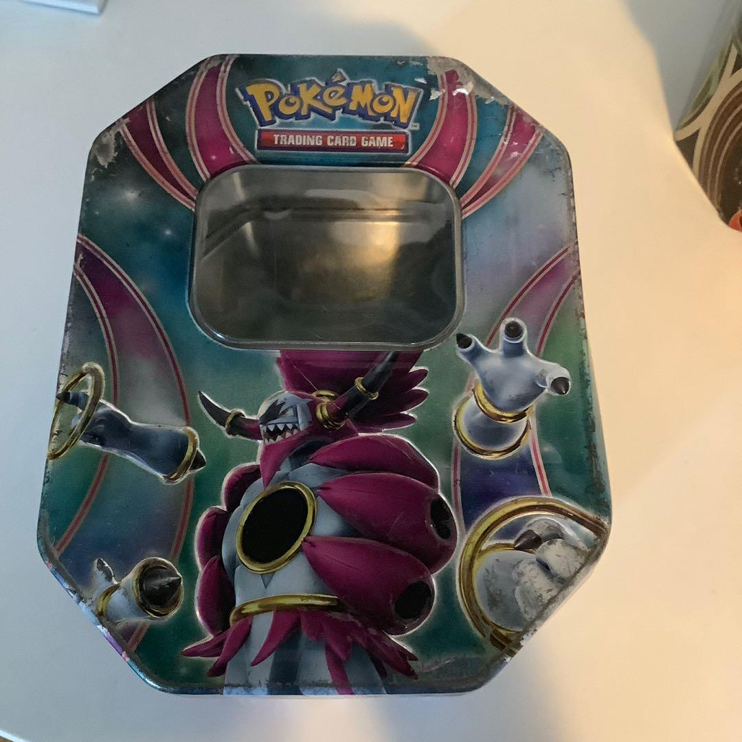 2 pokemon  trading cards game collectible tins with legendary Ex