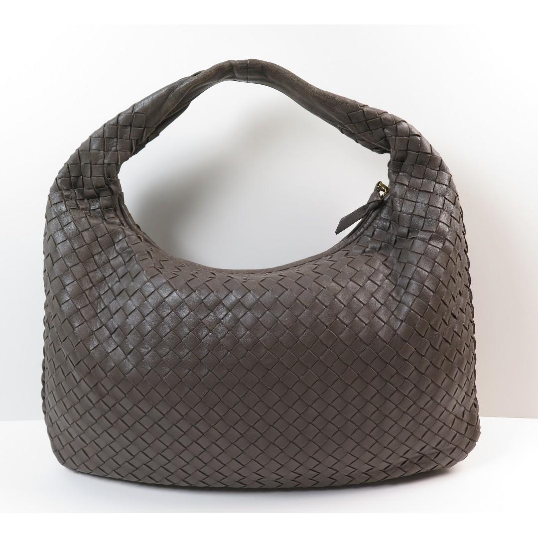 Bottega Veneta Intrecciato Hobo Shoulder Brown Bag 207323