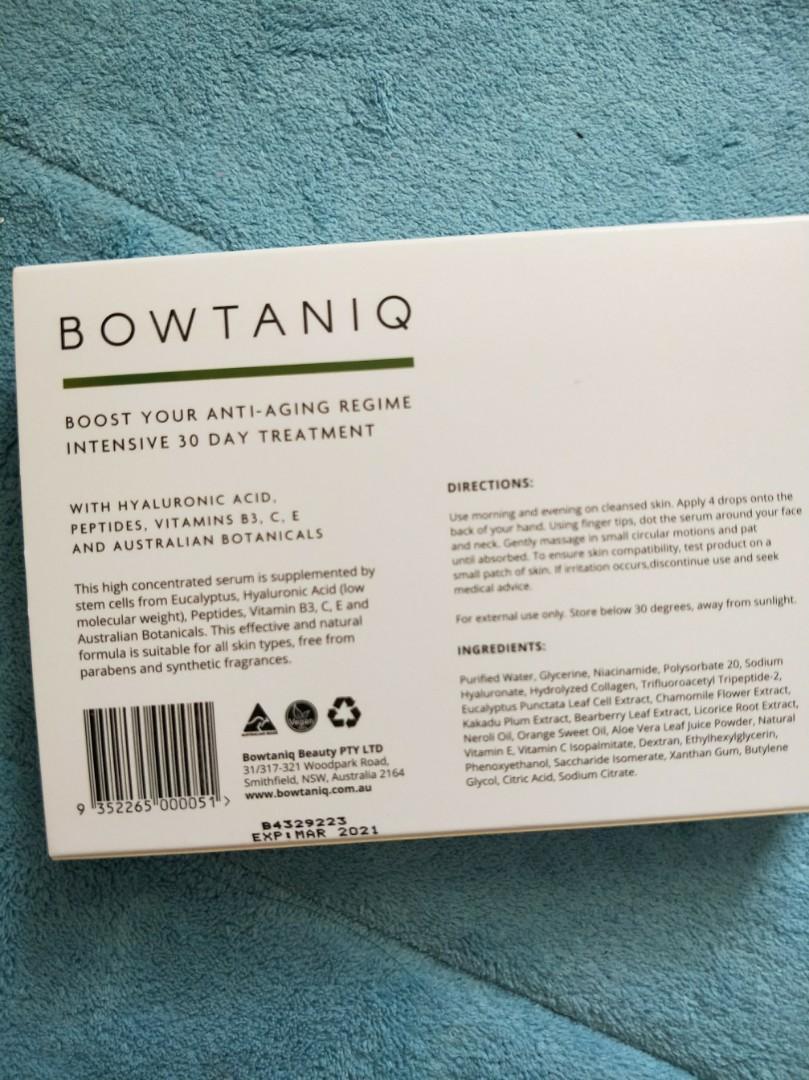 Bowtaniq facial serum 10ml x3