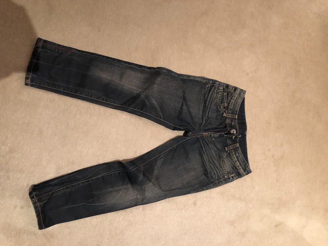 Brand new without tags United Colours of Benneton cropped jeans size 38 / Au 6