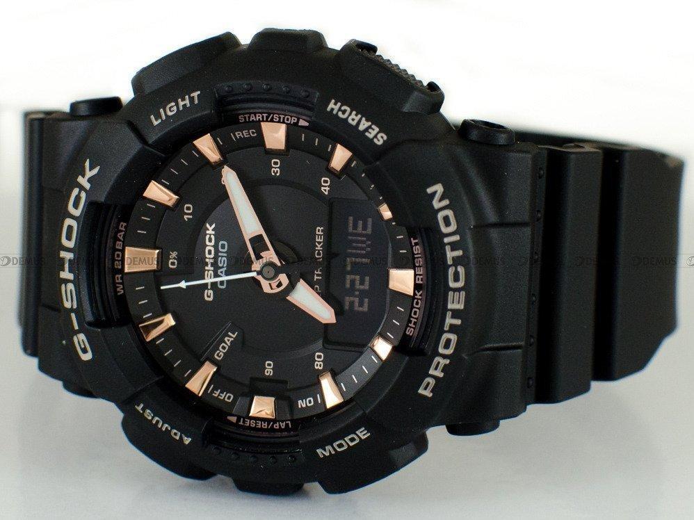 Casio GMA-S130PA-1A G-Shock Analog Digital Sporty Design Classic Black Resin Band Rose Gold Dial Original Watch GMA-S130PA