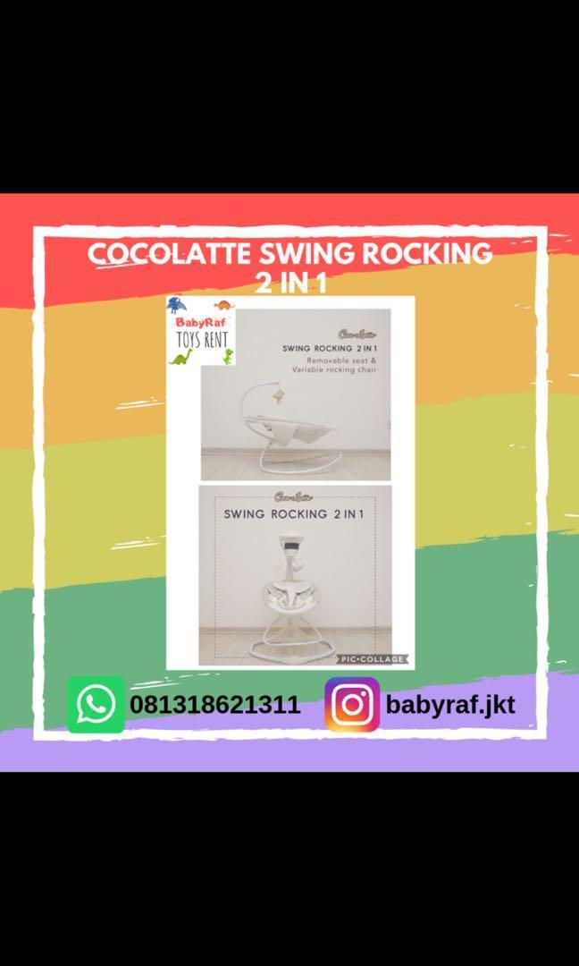 DISEWAKAN Baby swing cocolatte