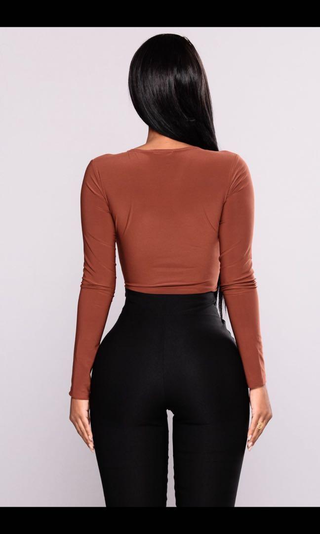 Fashion Nova V neck bodysuit