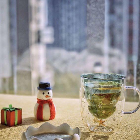 Glass Mug Christmas Tree Design