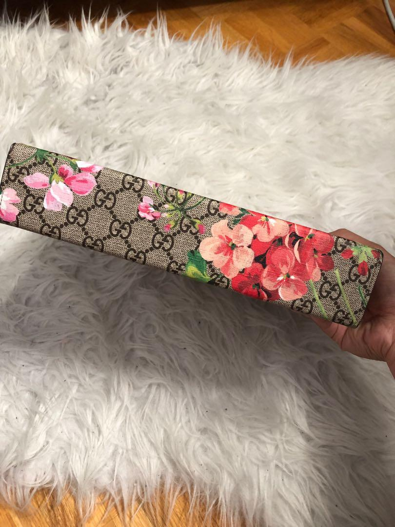 Gucci GG blooms large cosmetic case
