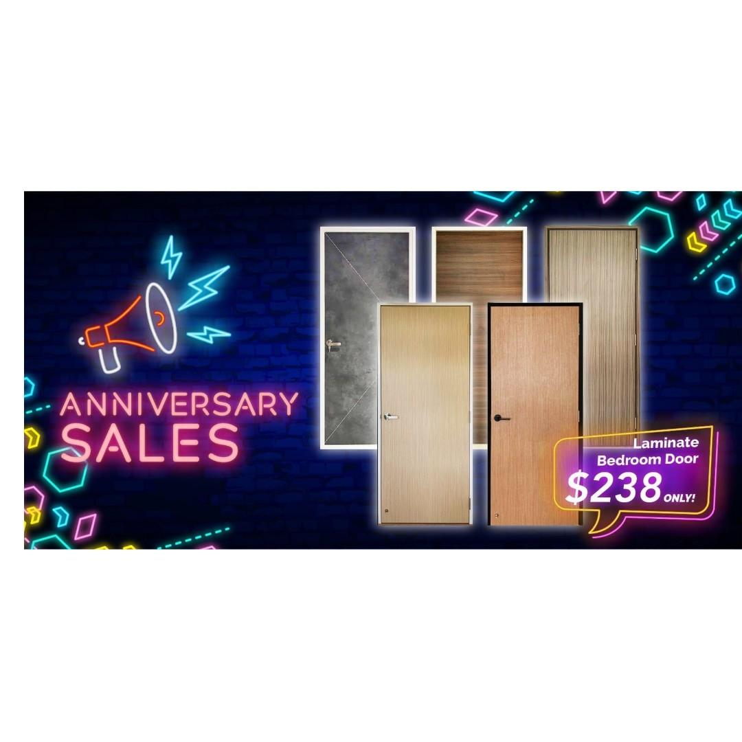 HDB Laminate Bedroom Door