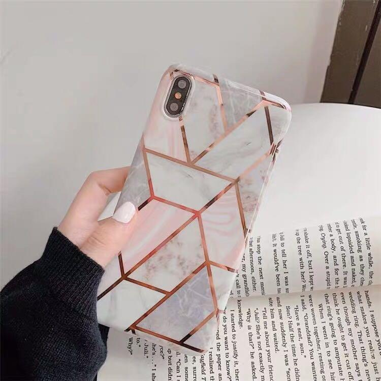 iPhone case 大理石 金色 軟殼 6/7/8plus/xs/xr/xr max