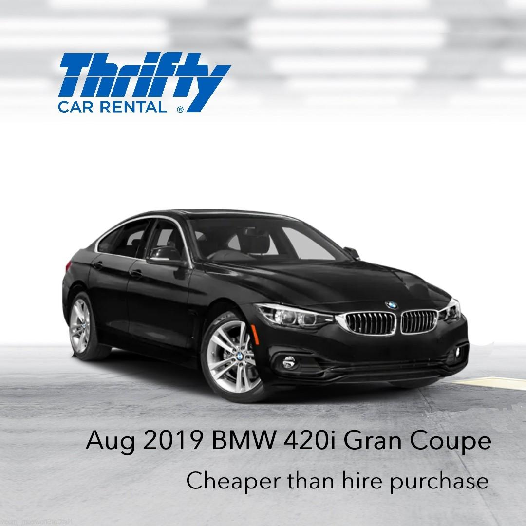 Lease-to-own a BMW 420i at $65.10 daily