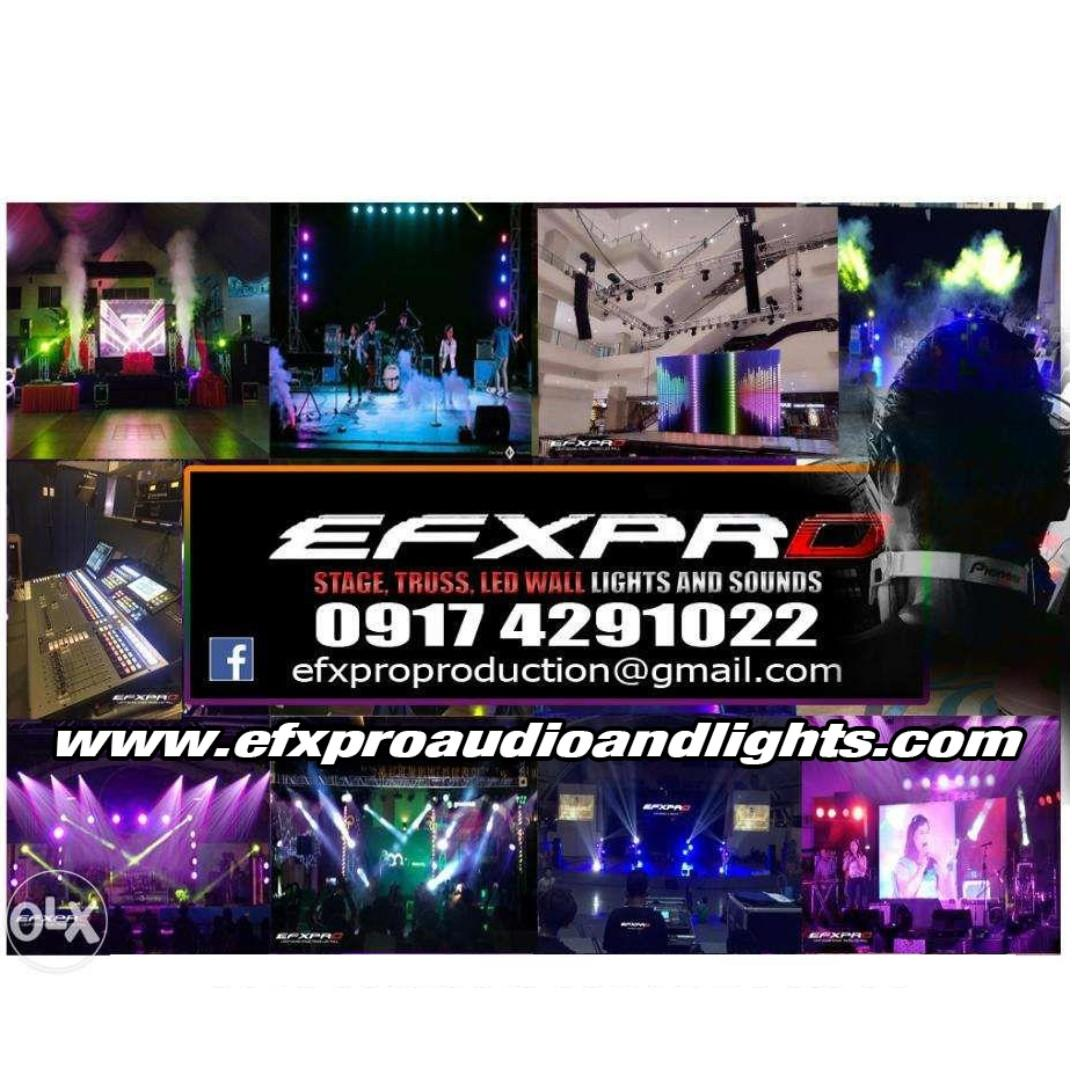 Light Sound Led Wall Stage Trusses Roofing Djs Mobile Drums Amps Rent effects