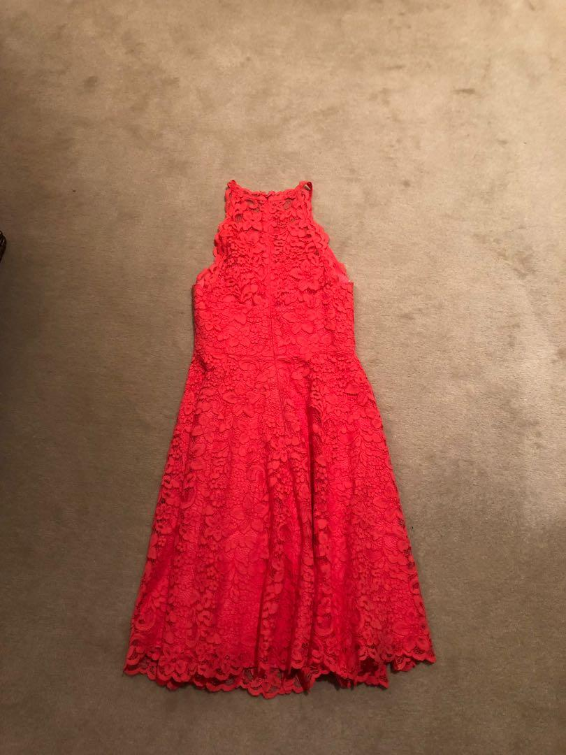 Size 4 forever new lace red dress brand new without tags