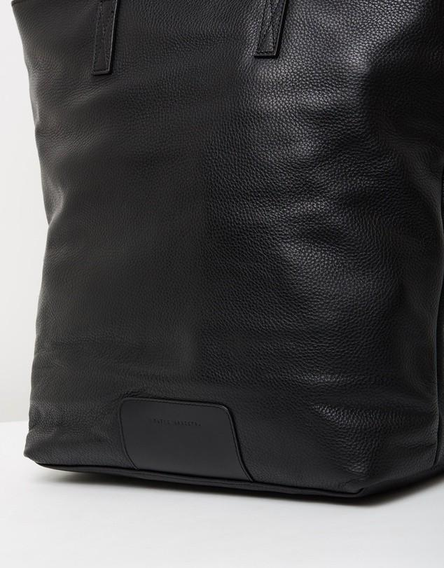 Status Anxiety Fire in the Vine leather tote black