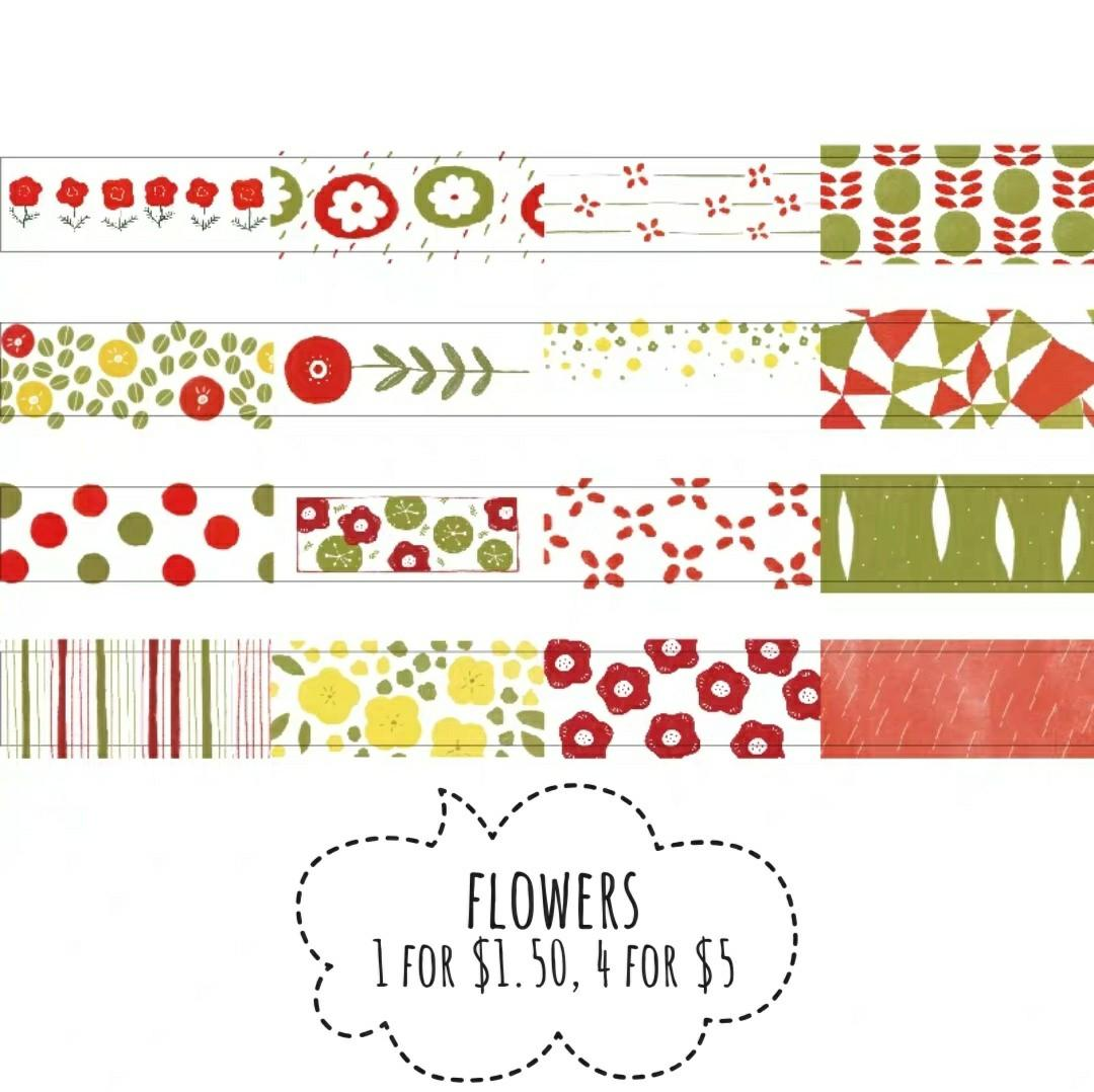 [T]Flower washi tape