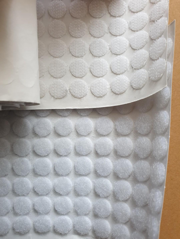 Self adhesive Velcro black or white dots 180 sets