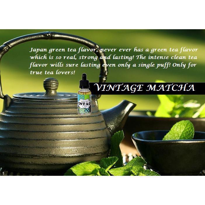 Vintage Premium Tea Series E Liquid / E Juice &  Vape - MATCHA TEA