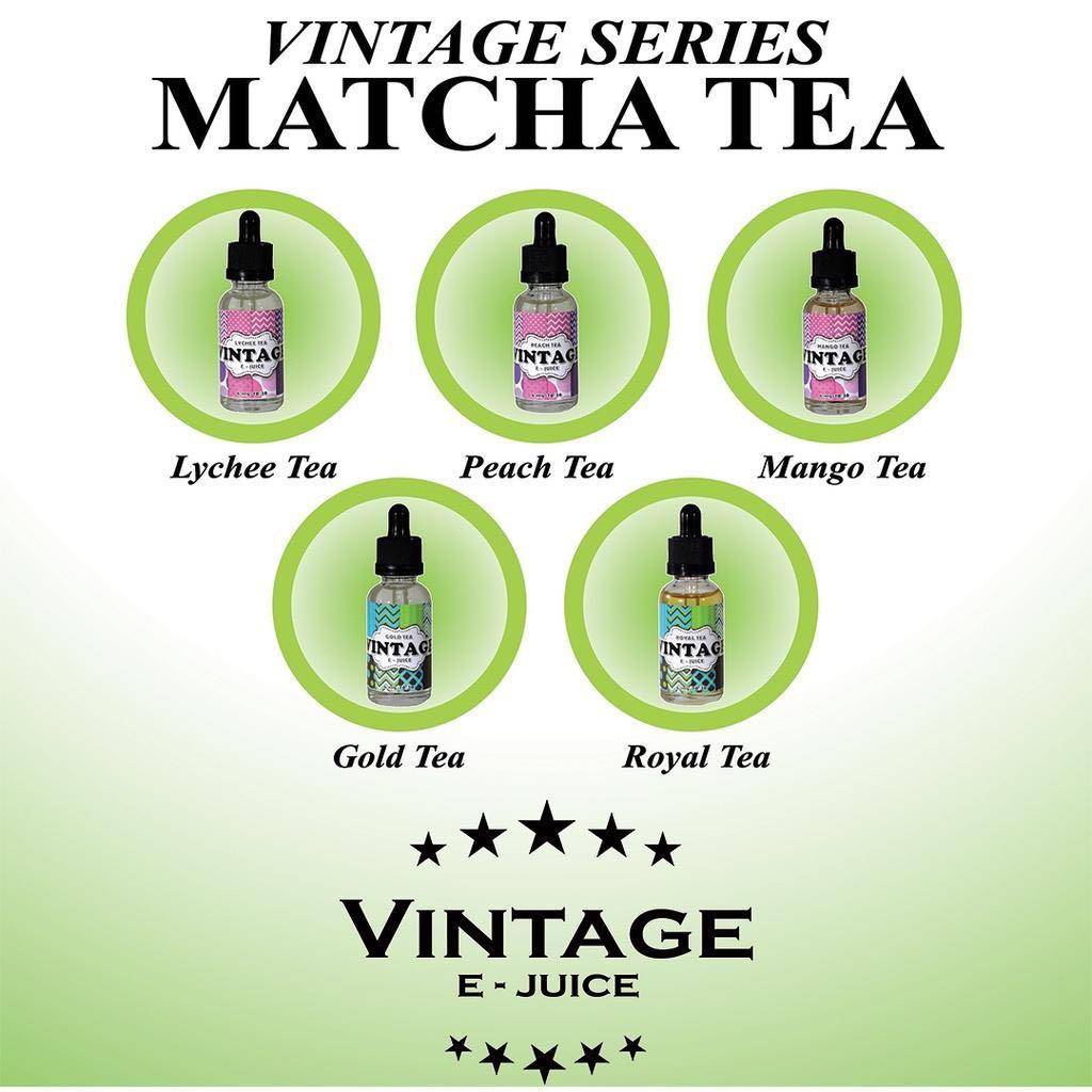 Vintage Premium Tea Series E Liquid / E Juice &  Vape - MATCHA TEA