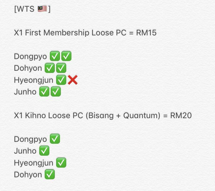 X1 First Membership, Kihno and Showcon MD Loose PC