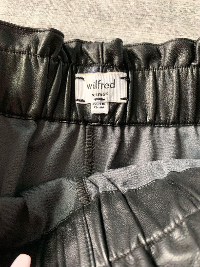 XS Wilfred Black Leather Shorts