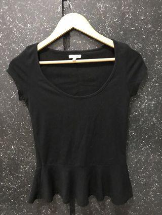 ZARA 黑色棉質上衣(不含運)
