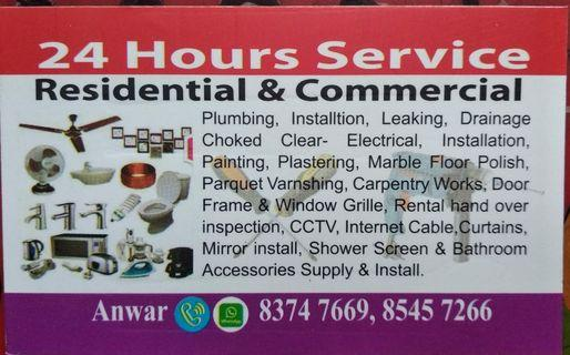 Electrical @ plumbing and (A to Z) H/P  83747669