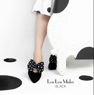 Valencia by enrica limite x chelsea olivia lou lou mules flat shoes wanita size 38